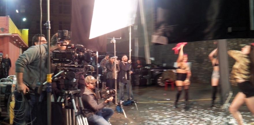 Working on set with director Mark Pellington as Phantom Tech.