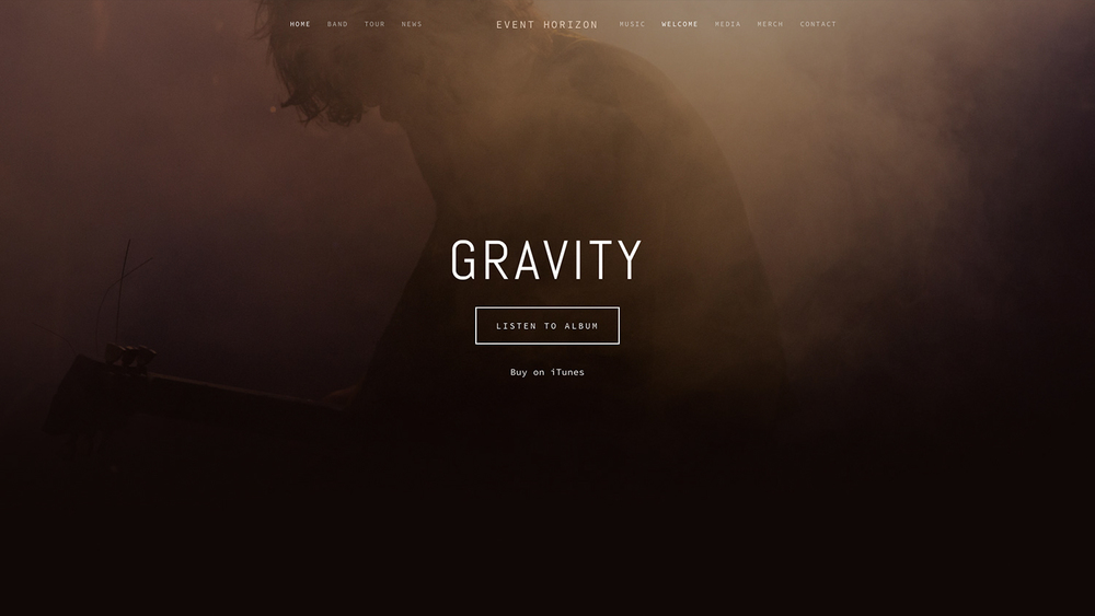 Gravity - A Squarespace Template for Photographers, Online Stores, Muscians, & Graphic Designers