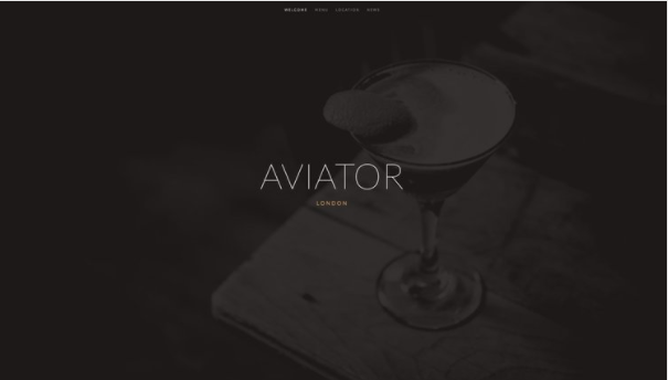 Aviator - A Squarespace Template for Photographers, Online Stores, Graphic Designers, Musicians, and Resturants