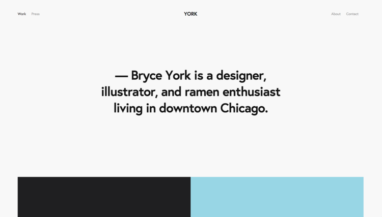 York -  - A Squarespace template for Graphic Designers, Artists, Online Stores, and Photographers