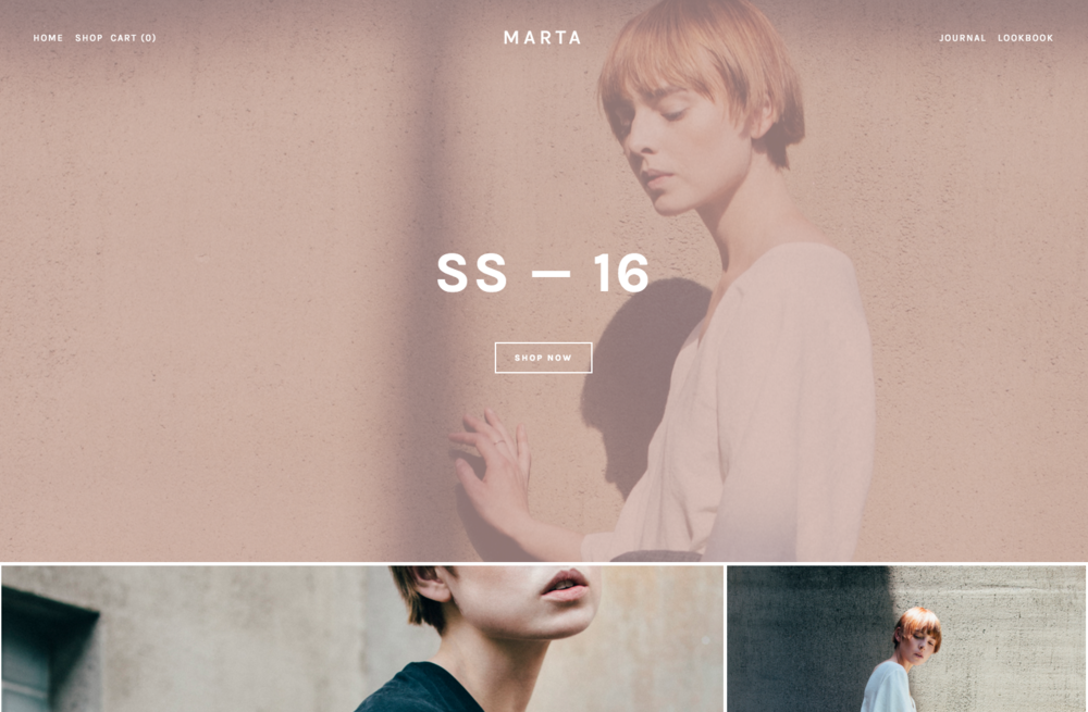 Marta - A Squarespace template for online stores.