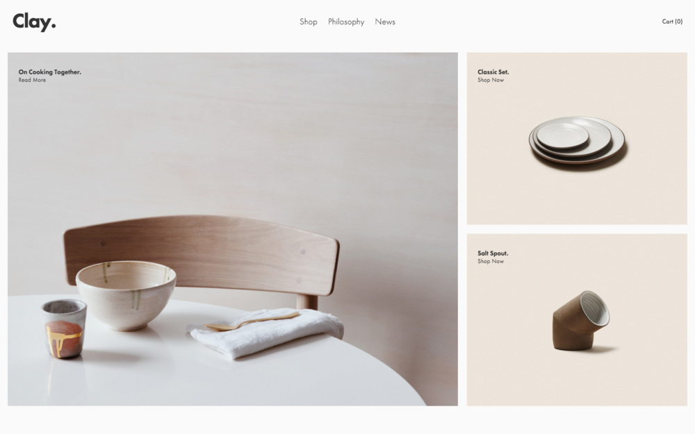 Clay - A Squarespace template for online stores.