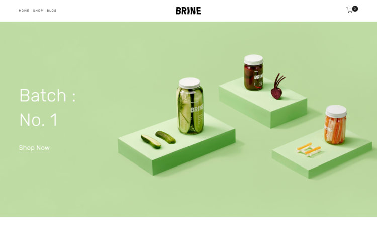 Brine - A Squarespace template for online stores.