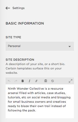 Use this Site Description in Squarespace the same way you used your Search Engine Description.
