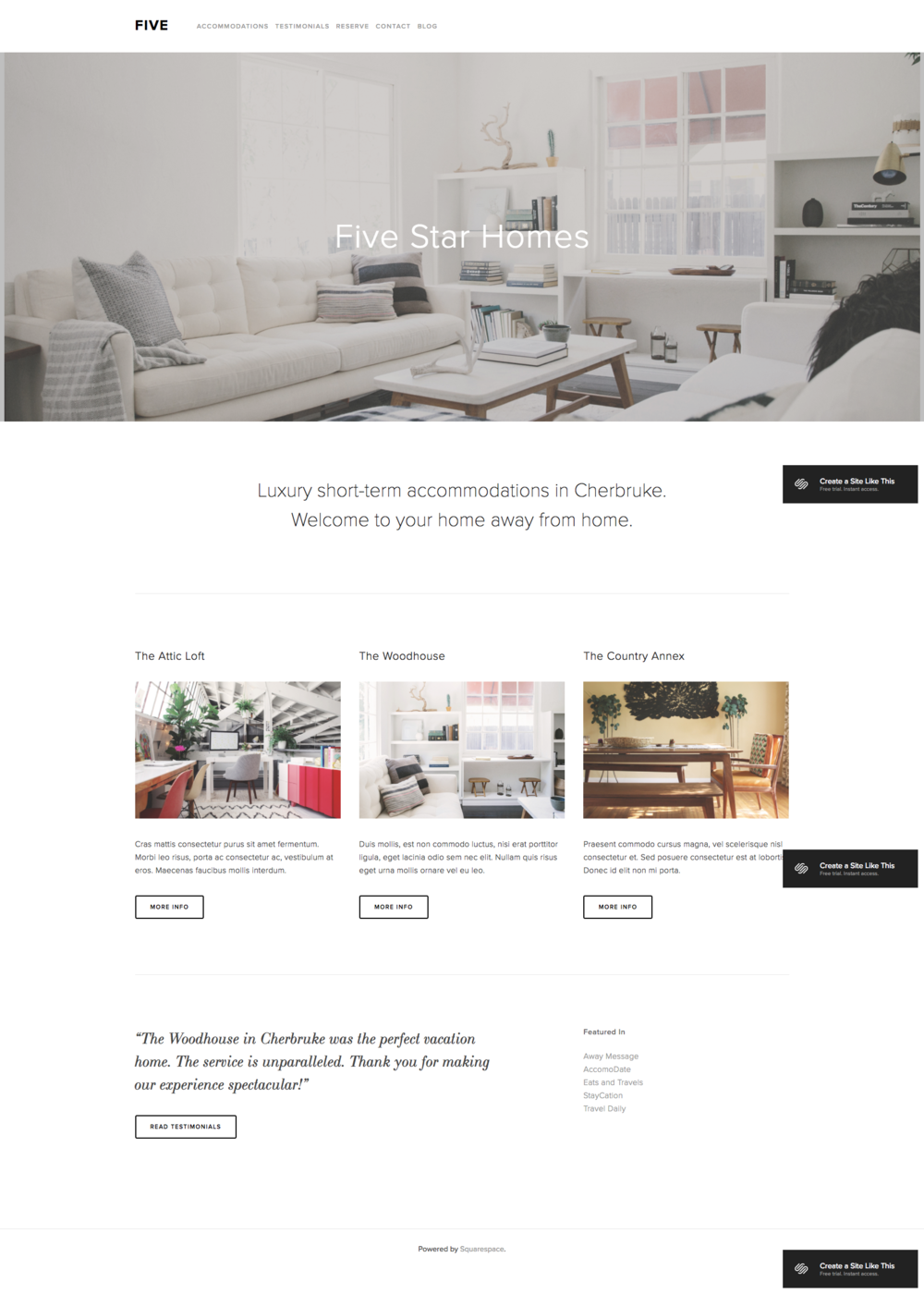 the best squarespace templates for bloggers hued design studio. Black Bedroom Furniture Sets. Home Design Ideas