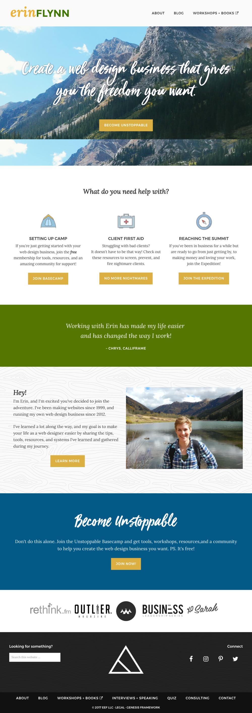 Homepage for Erin Flynn @ erinflynn.com