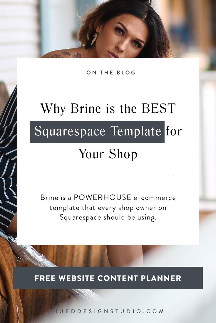 Squarespace templates | Brine Squarespace Template | Squarespace Design | Squarespace Tips | Squarespace Ideas