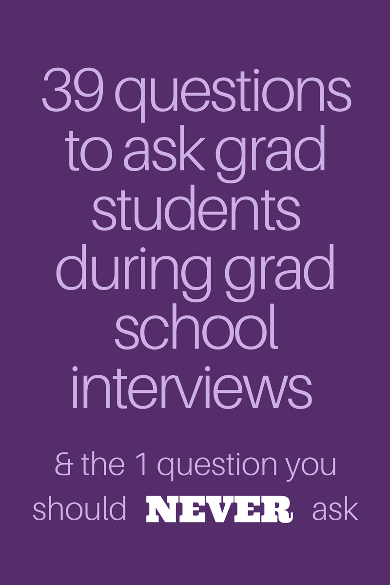 39 questions to ask grad students during your grad school interviews and 1 question you should never ask boldadulting
