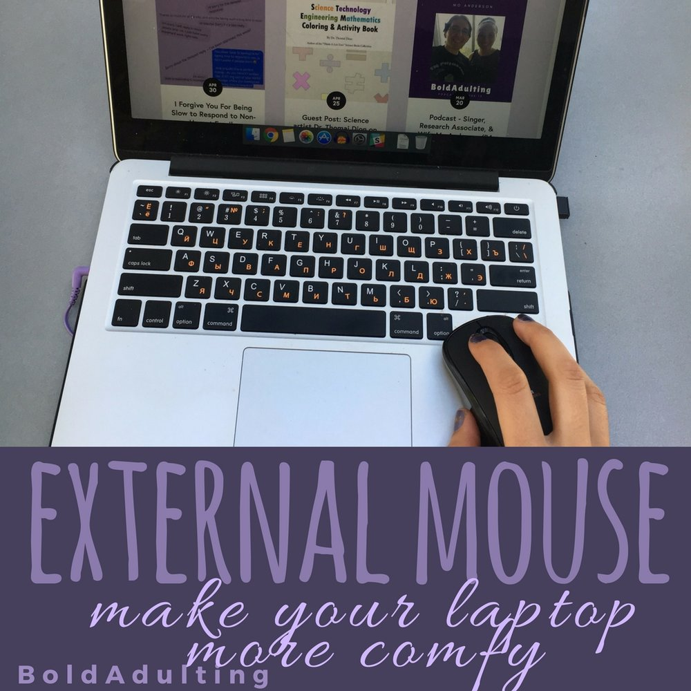 Once you adapt to a mouse you may never go back to a touch pad again.