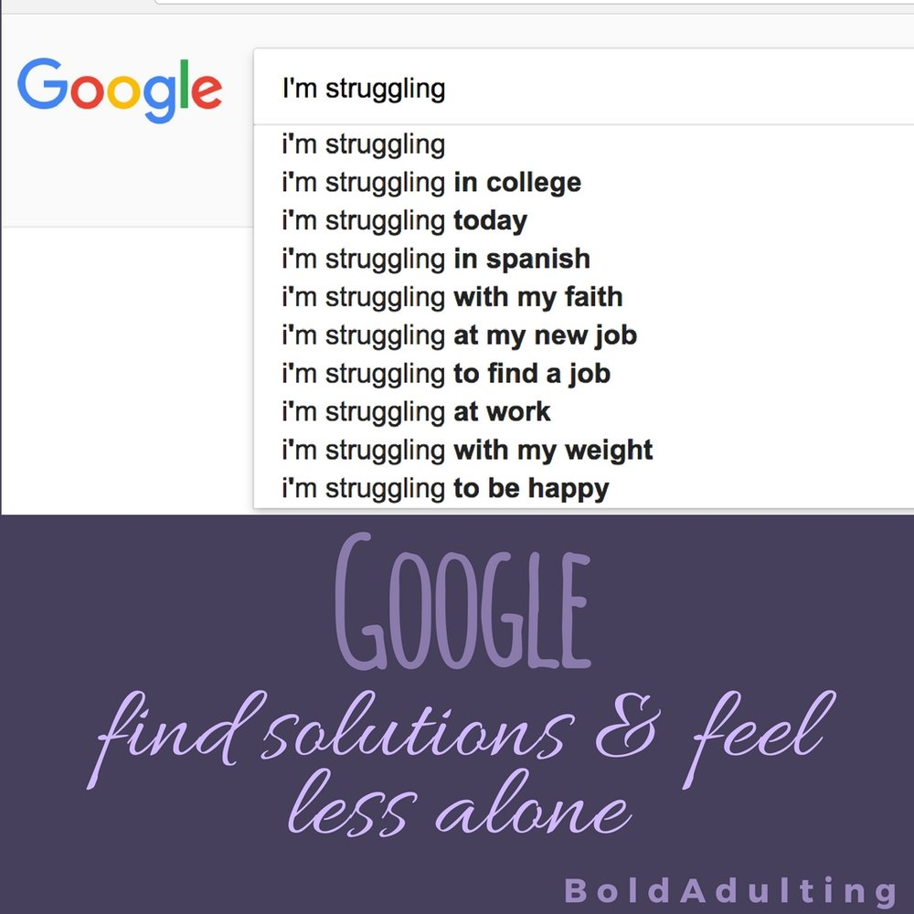 It's really easy to get used to what is bothering you, to assume you're the only one, or to feel helpless. But a solution or band-aid for your problem may be out there, so don't be afraid to ask Google.