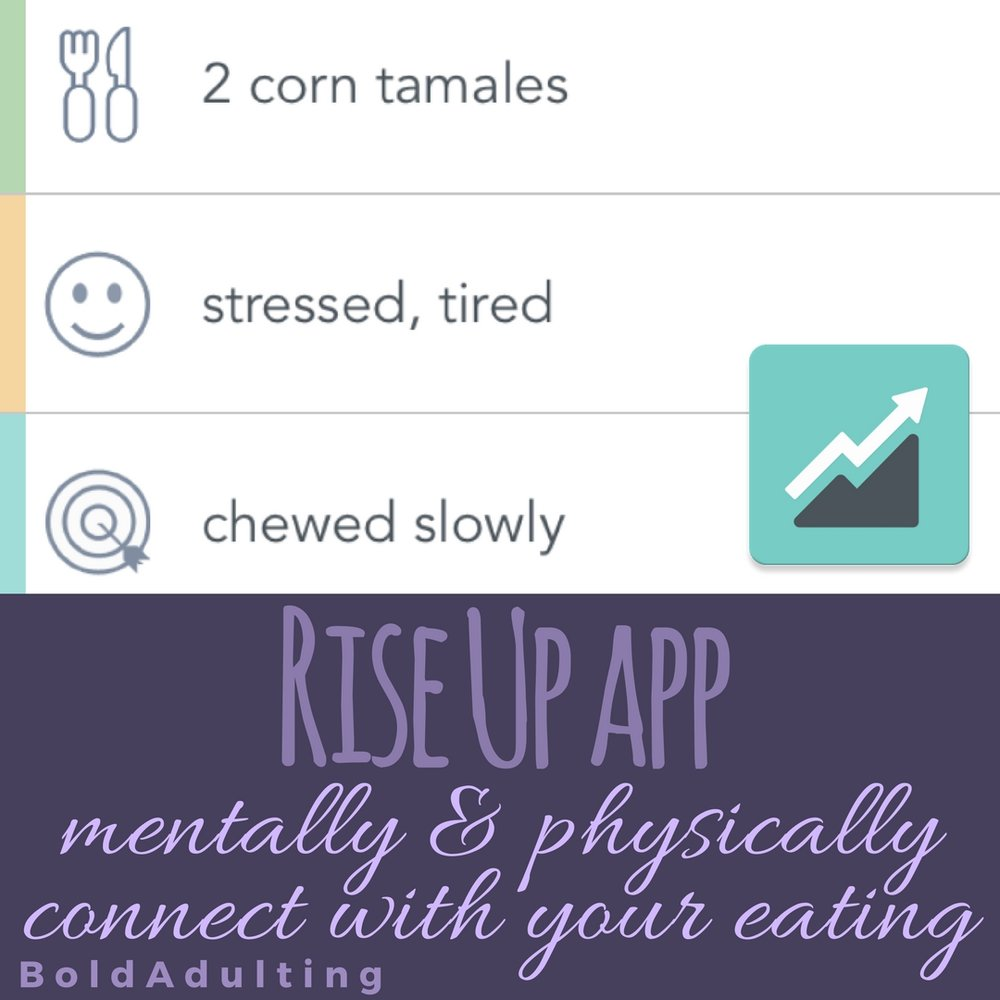 A healthy relationship with food doesn't come from knowing how many calories you eat. The RiseUp app will help you observe your feelings and eating tendencies so your eating decisions are based on your body's needs.