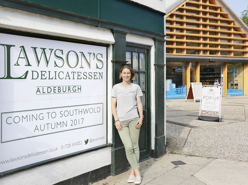 Lawson's owner, Clare Jackson, outside the new Southwold shop.