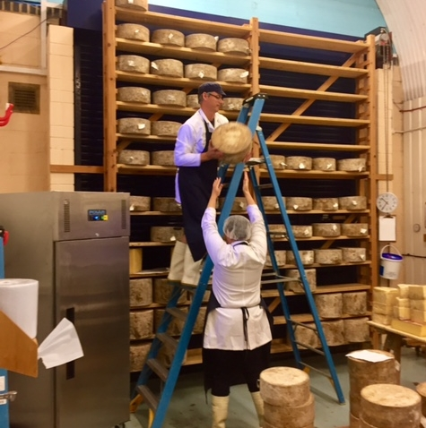 Turning Cheese at Neals Yard