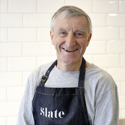 John Ormerod - John is joint owner of Slate with his daughter, Clare. A novice in the food and retail sectors, other than as a customer and enthusiast for cheese, John is excited to be learning a new business.John and his wife Pamela have been coming to Suffolk for over 30 years.  With eight grandsons and two granddaughters as regular visitors, life in Walberswick is rarely quiet.