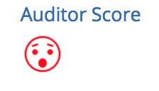 Auditor score unhappy