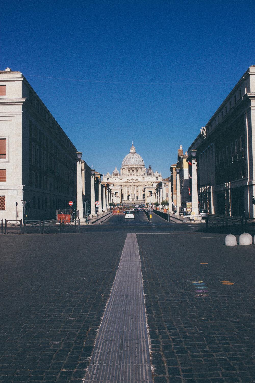 Walking into Vatican City