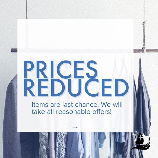 We are lowering our great prices even more!!! Come in and see what we have left :)