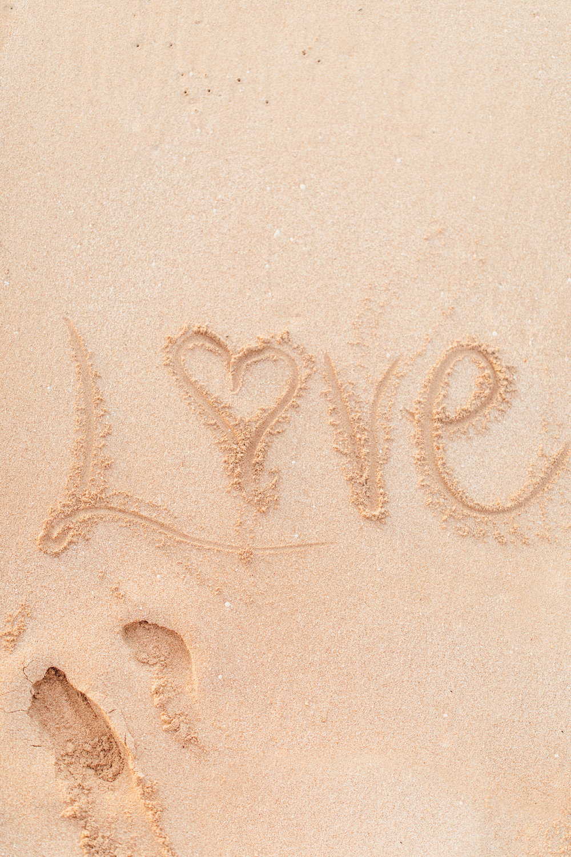 love written in the sand