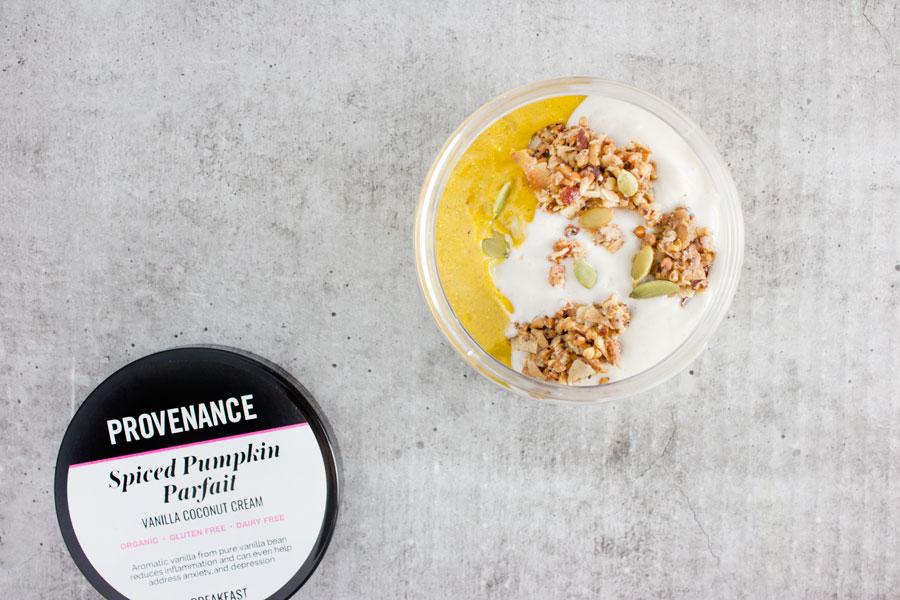Breakfast: Spiced Pumpkin Parfait with Vanilla Coconut Cream (VG)