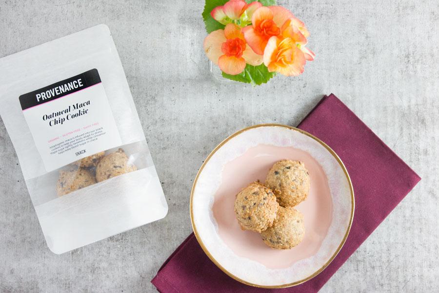 Snack: Oatmeal Maca Chip Cookies