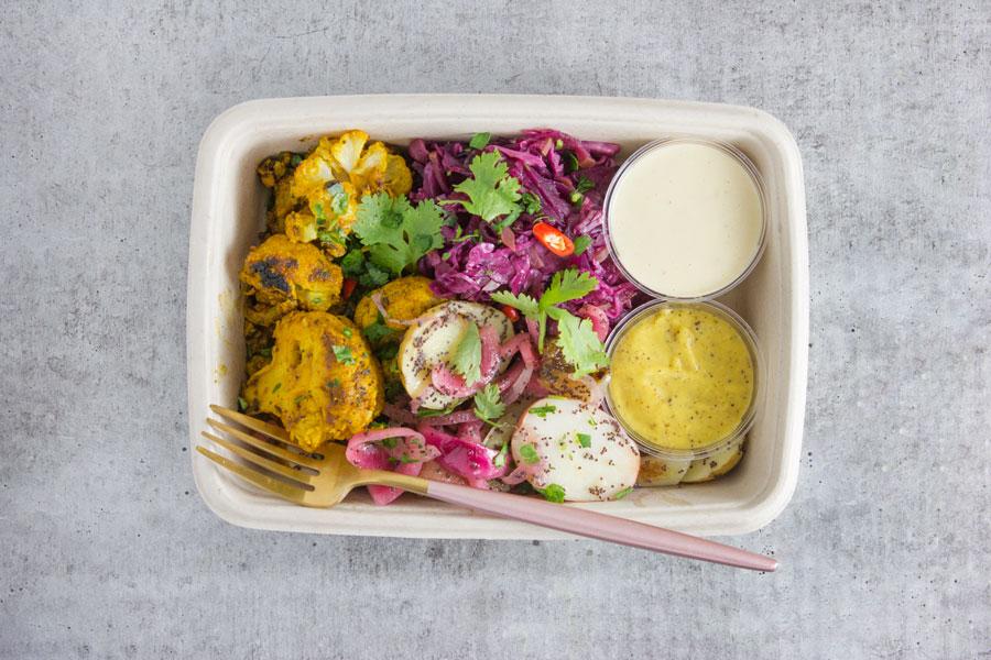 Dinner: Cauliflower Shawarma with Garlic Tahini