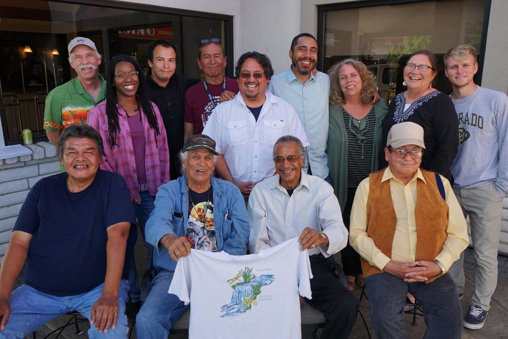 "With members of the Indigenous environmental justice group ""Red Thunder"" on the Ft. Belknap reservation, summer 2016."
