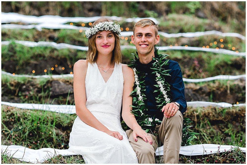 Maui Wedding Couple at UpCountry Maui Wedding