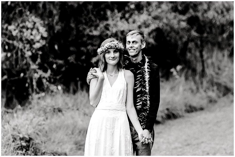Maui bride and groom at Maui wedding