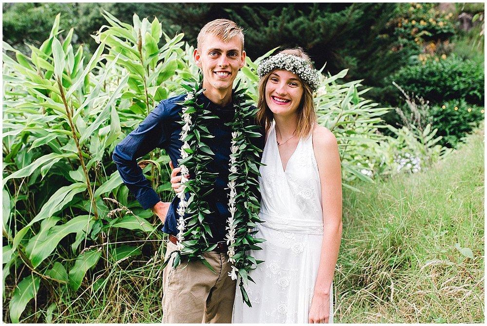 Happy Maui bride and groom