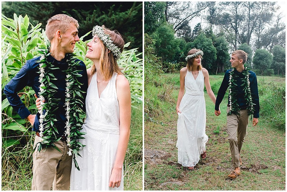 Maui bride and groom