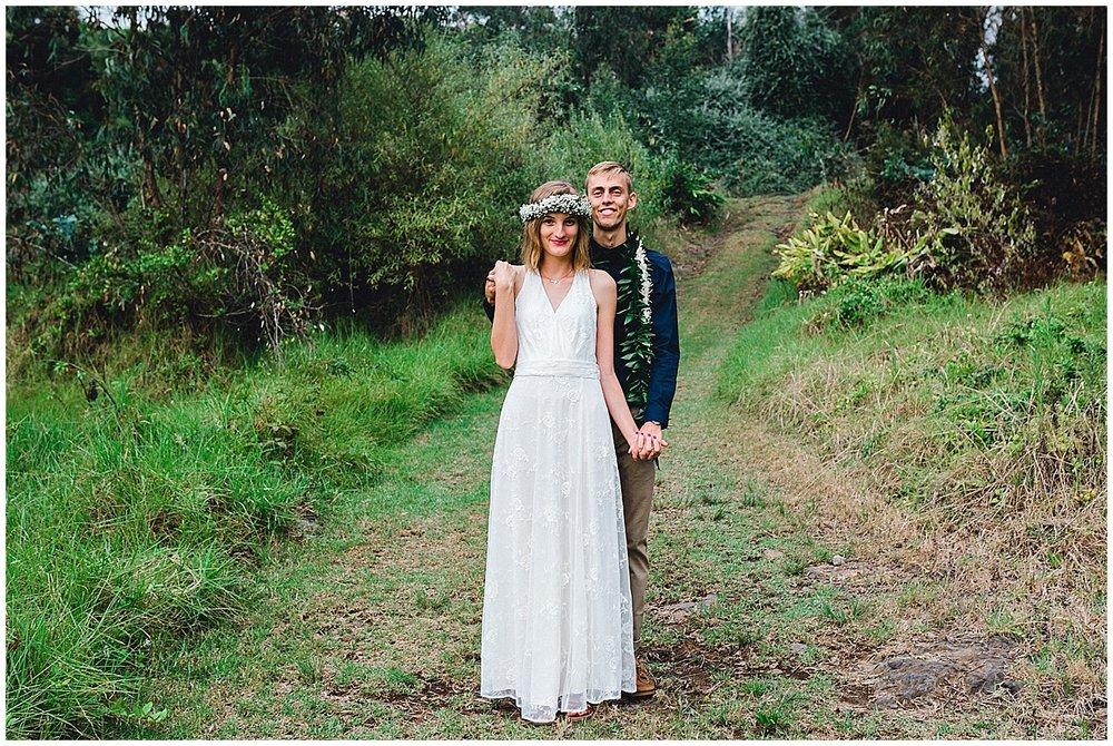 Maui bride and groom at Maui UpCountry wedding