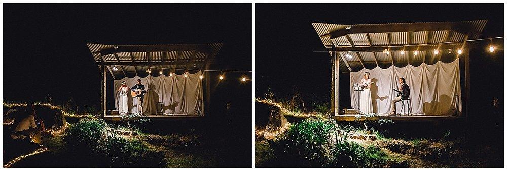 Maui reception venue, bride and groom entertain guests