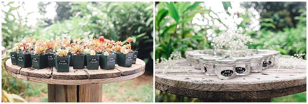 Maui Upcountry wedding reception details