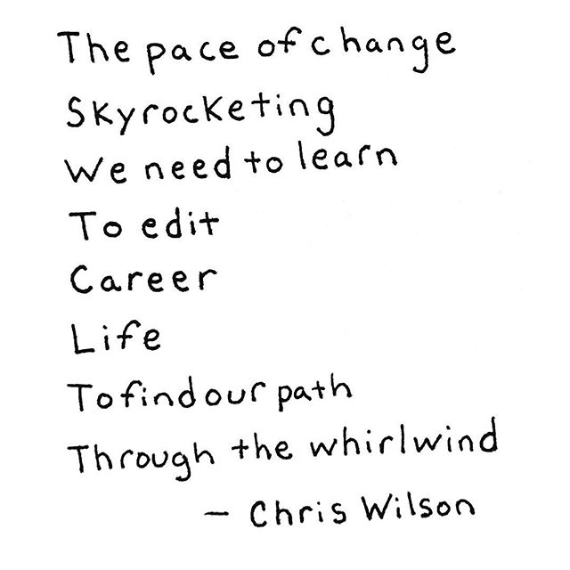 I believe we can learn to edit our career and life. . This is my mission. . Every day I see the changes in technology, the changes in our job market, the way we interact, the social bonds we create and the communities we are a part of. . The pace of change is skyrocketing and I firmly believe we must learn to edit our career and our life. . We must learn how to find our path so we can live a happy fulfilling life in the face of constant change. . What do you think we need to learn? . . . . . #selfdirectedlearning #success #careergoals #habits #lifehacks #personaldevelopmentcoach #motivationalquotes