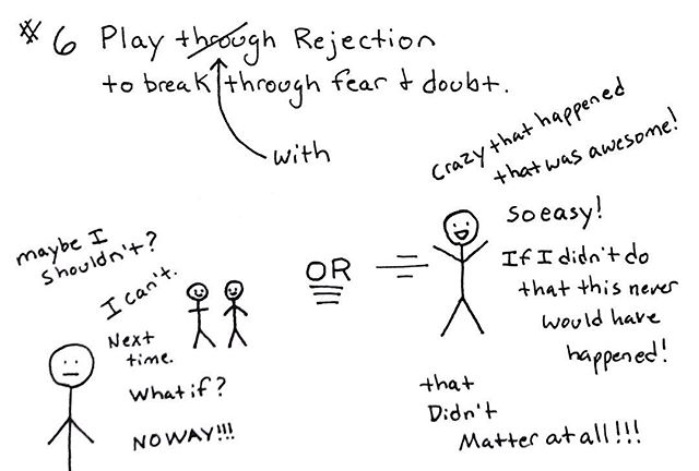 Rejection is a part of learning, growth and development and how we react to it (or hide from it) affects our trajectory. . Learn to play through it and use it to energize you and you will be surprised by where you end up. . . . #rejection #rejectiontherapy #growthmindset #selfdirectedpath #selfdirectedlearning #play #energize #failure #doubt #successmindset #goals #habits