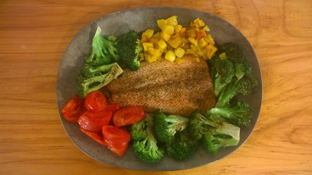 A simple Sockeye dinner.