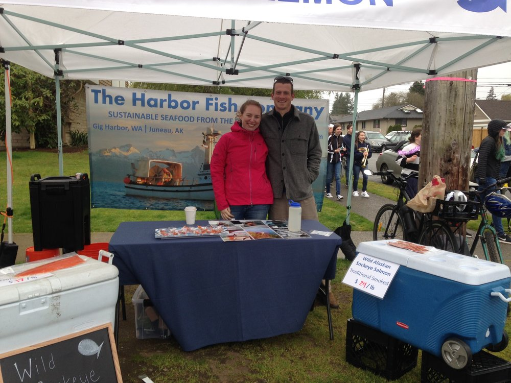 The Harbor Fish Company at the Proctor Farmer Market in Tacoma, Washington in 2017.