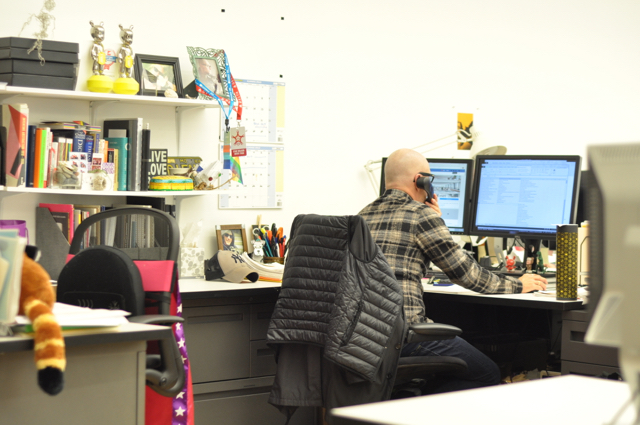 McDaniel at his desk, the epicenter of FXCollaborative communications