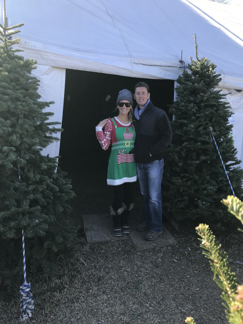 Patton Christmas Trees owners.