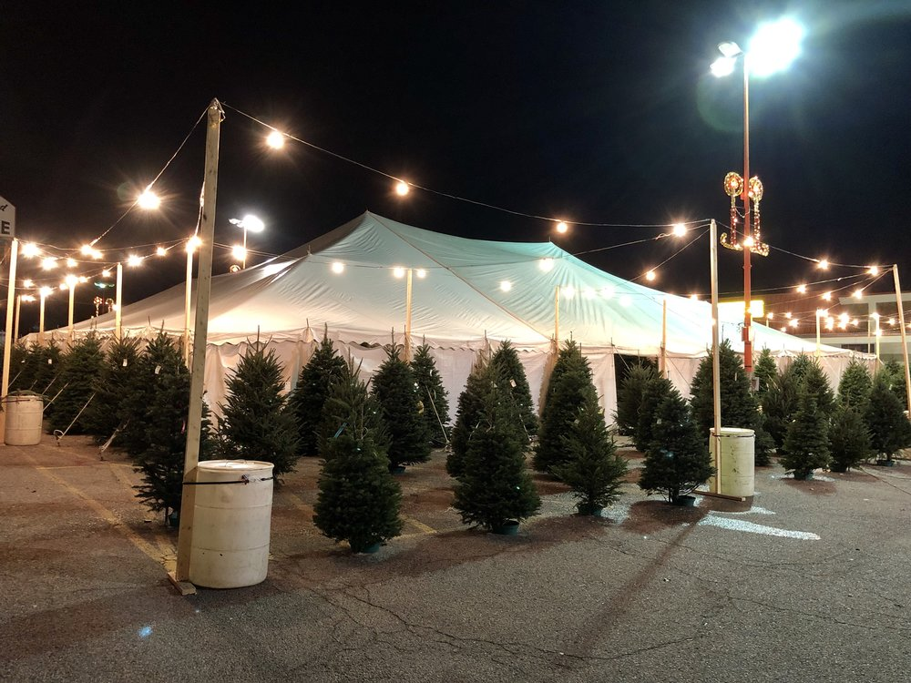 Our Christmas tree tent is located in Dallas, TX.