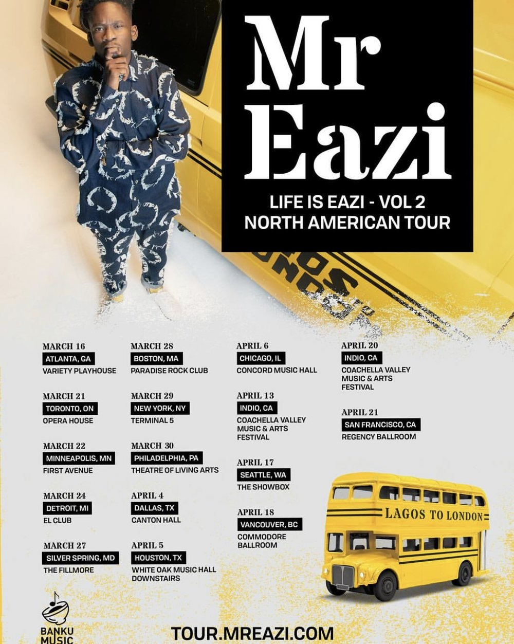 Mr. Eazi Tour
