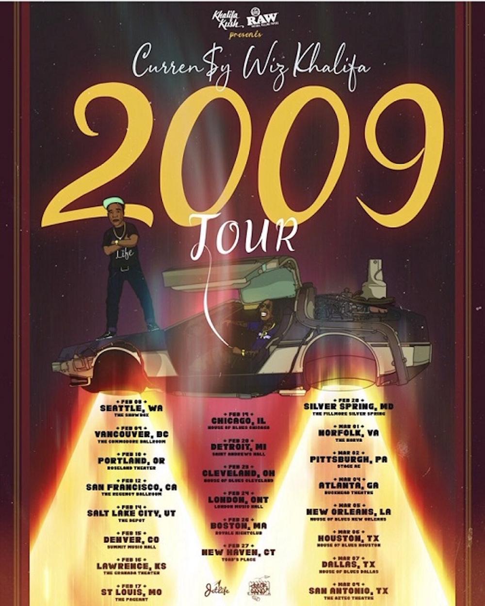 Currensy Wiz Khalifa 2009 Tour