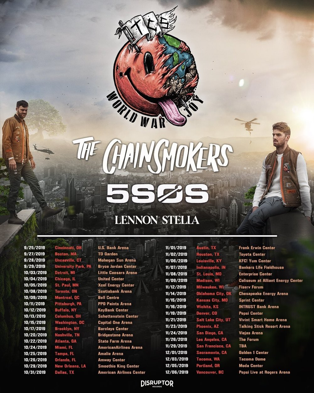 The Chainsmokers Tour