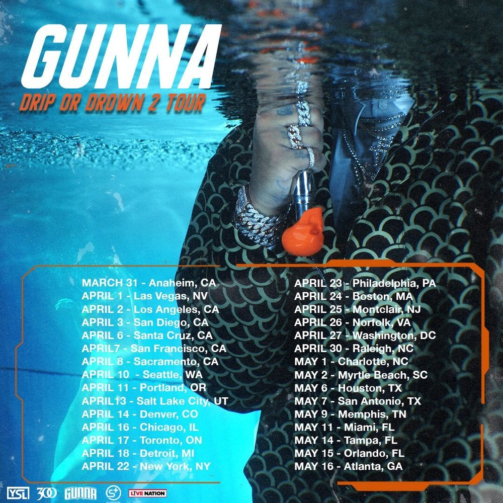 Gunna Drip or Drown 2 Tour