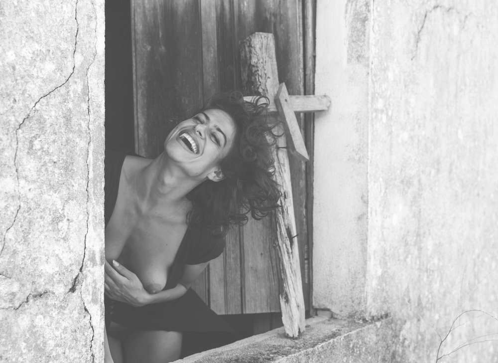 """- """"Throw her into fire! She's a witch!""""    - """"Even after you burn me into dust, my laughter will continue shaking universes into infinity"""" ~ Through the loud and incomparable laughter, she yelled out to those, who dared to put a wooden cross on her window ...   Portugal. Photographer - Karl Huber"""