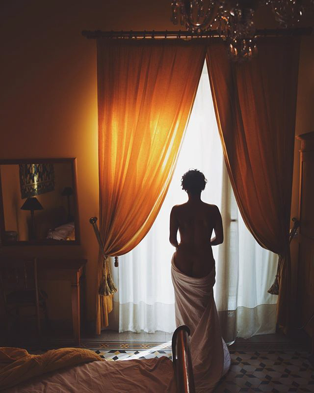 The lightness of being within the shadows of life. Palermo, Sicily.