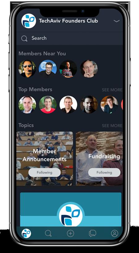 TechAviv Founders Club Mobile App