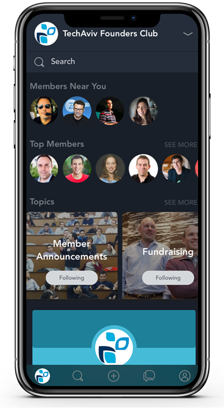 TechAviv Founders Club Mobile App