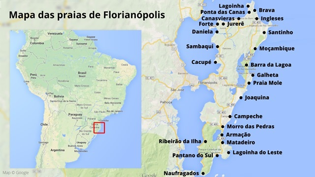 Map of Florianopolis, source | florianopolis dot net