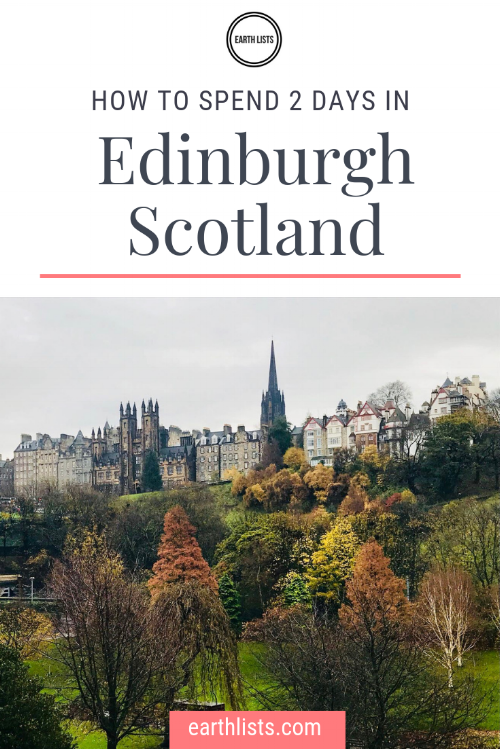 how to spend 2 days in edinburgh